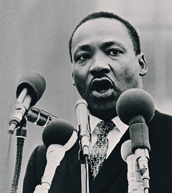 Martin Luther King giving a speech