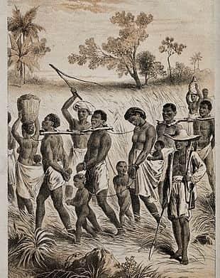 Group of captured slaves