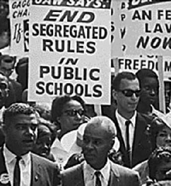 A march during the Civil Rights Movement